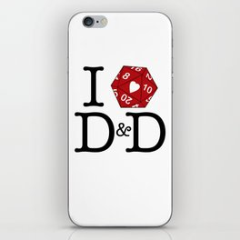 I Heart D&D iPhone Skin
