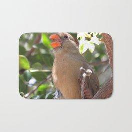 Female Cardinal Bath Mat