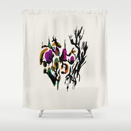 Flower Arrangement in Black Shower Curtain