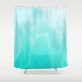 shades of teal Shower Curtain