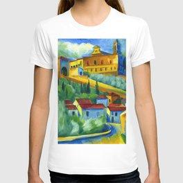 Charterhouse of Florence & Italian Village landscape painting by Hermann Max Pechstein T-shirt