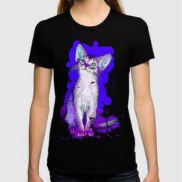 abyssinian cat kitten vector art T-shirt