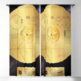 Voyager 1 Golden Record #1 Blackout Curtain