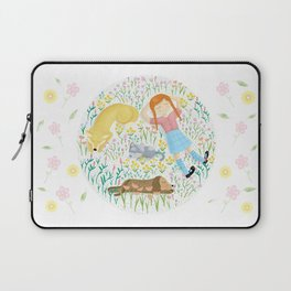 Summer Afternoon With Dogs, Cats And Clouds Laptop Sleeve