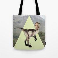 christopher walken Tote Bags featuring Christopher Walken by Kalynn Burke