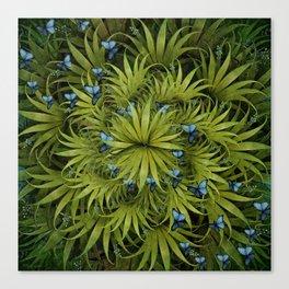 """El Bosco fantasy, tropical island blue butterflies"" Canvas Print"