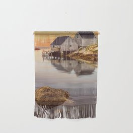 Peggy's Cove Harbor at Sunset in Nova Scotia Wall Hanging