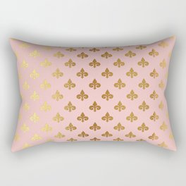 Royal gold ornaments on pink background Rectangular Pillow