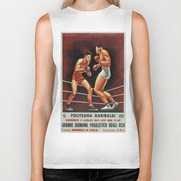 Vintage poster - Boxing Biker Tank