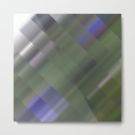 Forest thicket. Abstract gradient art geometric background with soft color tone, cell grid. Ideal fo Metal Print