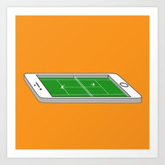 Tennis on an iPhone Art Print