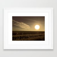 texas Framed Art Prints featuring Texas  by Susan Gonzalez