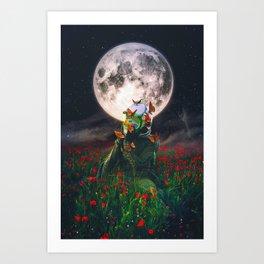 Under The Moon Spell  Art Print