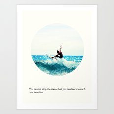 Surf Quote Art Print
