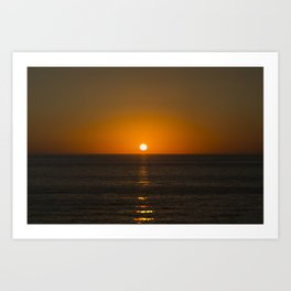 Pure Orange Sunset Art Print