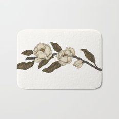 Magnolias Branch Bath Mat