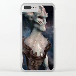 Alien Hero Clear iPhone Case