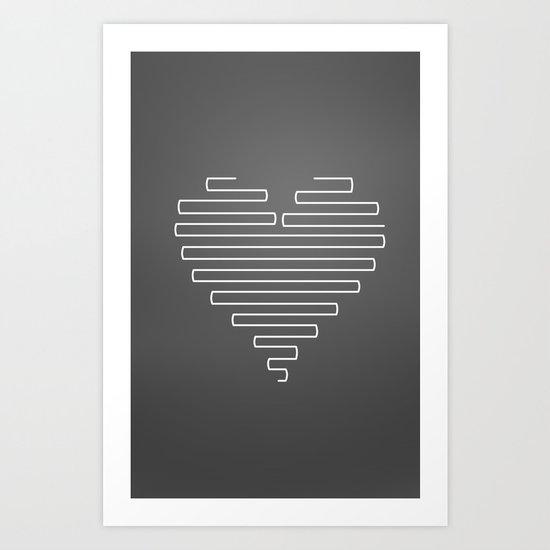 Love Maze Art Print