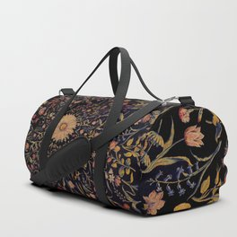 Medieval Flowers on Black Duffle Bag