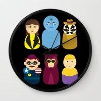 watchmen Wall Clocks featuring Watchmen by PinkRadish