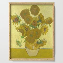 Sunflowers (Vincent Van Gogh series) Serving Tray