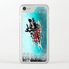 ride hard - snow Clear iPhone Case