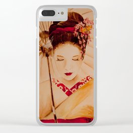 Peacefull times Clear iPhone Case
