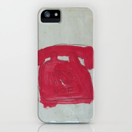 A Bright Red Phone iPhone Case