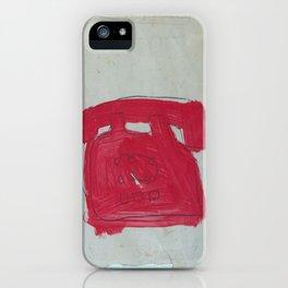 A Bright Red Phone iPhone Case