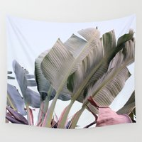 palm Wall Tapestries featuring palm by Renee-David