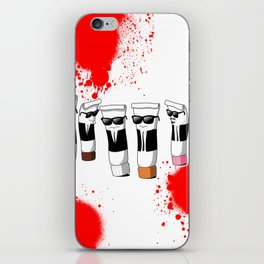 Reservoir Colours (with blood and light colored t-shirts) iPhone Skin