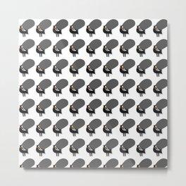 pattern black chicken Metal Print