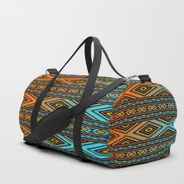 Orange and Turquoise Pendleton Duffle Bag