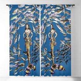 Mermaid in Monaco Blackout Curtain