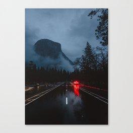 Moody Yosemite Valley Canvas Print