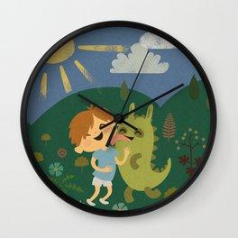 Attack of the Dinobunny! Wall Clock