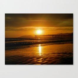 Pismo Beach Sunset Canvas Print