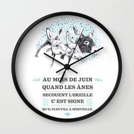 Proverbe de Juin Wall Clock