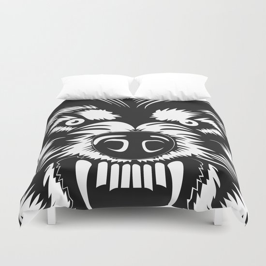 big bad wolf II Duvet Cover