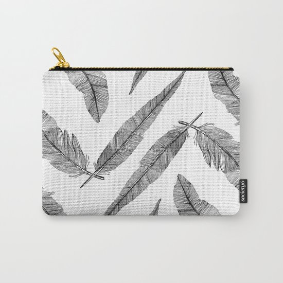 Two Feathers Carry-All Pouch