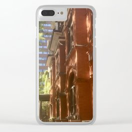 Shadows On Brownstone Clear iPhone Case