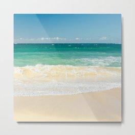 beach blue Metal Print