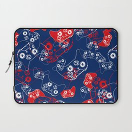 Video Game Red White & Blue 2 Laptop Sleeve
