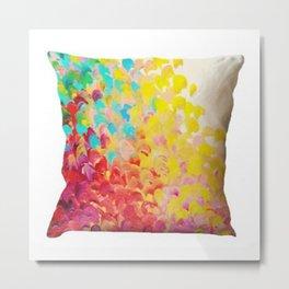 Flower Designer Cushion Cover Metal Print