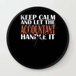 Keep Calm Account Wall Clock