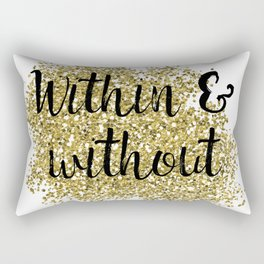 Within and without - golden jazz Rectangular Pillow