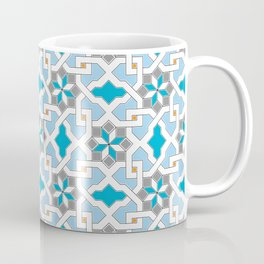 Oriental design - geometric Pattern Pt.1 , seamless design - blue, grey, white Coffee Mug