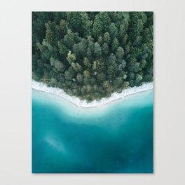 Green and Blue Symmetry - Landscape Photography Canvas Print
