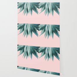 Agave fringe - blush Wallpaper