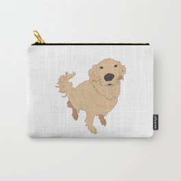 Golden Retriever Illustration on a White Background Carry-All Pouch